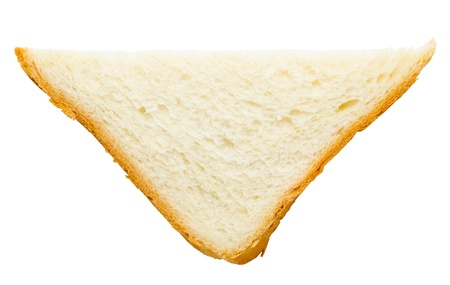 piece of wheat bread, isolated, top view photo