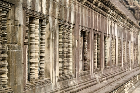 windows of Angkor Wat, the famous ancient Khmer temple in Cambodia photo