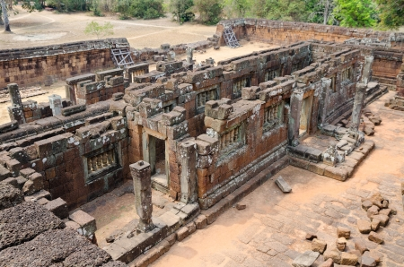 kingly: Ruins of Pre Rup, one of famous ancient Angkor temples in Cambodia