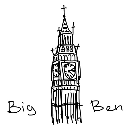 elizabeth tower: Big Ben illustration