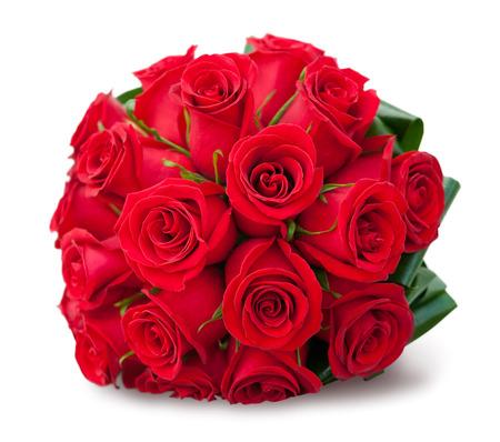 白で赤いバラのラウンド ブーケ 写真素材 - 24470753