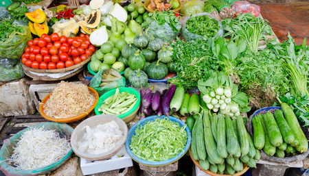 open air: open air food market in the southern Vietnam