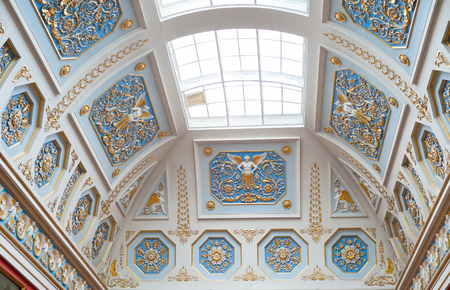 skylight: A skylight in of the rooms of the Hermitage Museum Editorial
