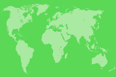 approximate: green map of the world over green, isolated