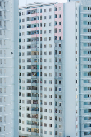 domiciles: two buildings of high rise blocks of flats