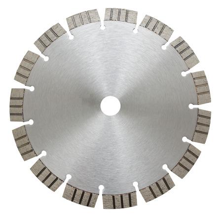 segmented: cutoff segmented wheel, isolated over white  Stock Photo