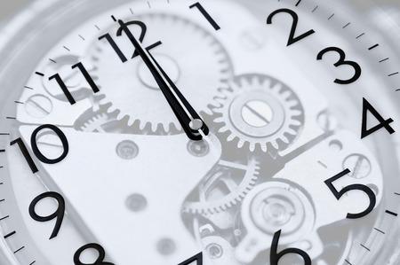 midday: twelve oclock (midnight or midday) on clock, double exposure