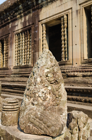 kingly: stones of Angkor Wat, the famous ancient Khmer temple in Cambodia
