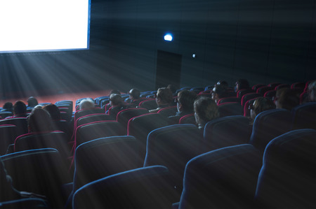 motion picture: viewers watch a 3D motion picture in special glasses