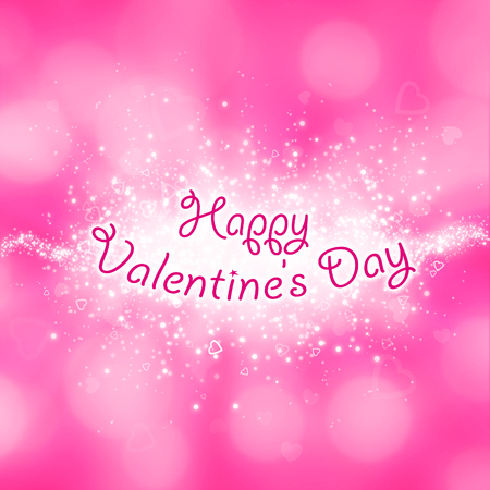 festive occasions: a greeting card for Happy Valentines Day Stock Photo