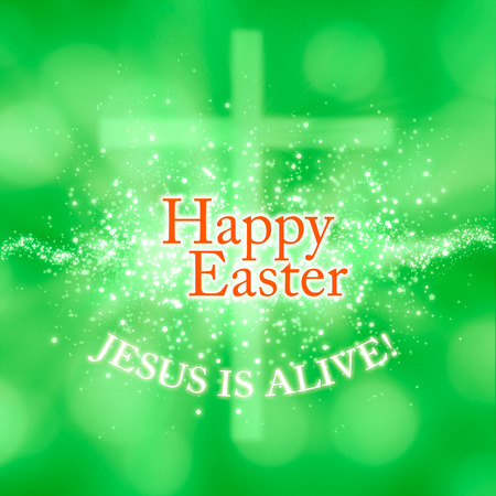 alive: a greeting card for Easter: Jesus is alive