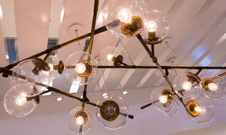 luster: fancy ceiling electrical luster of glass balls