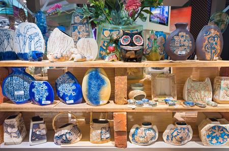 Kuala Lumpur June 15 2016 Malaysian Fancy Earthenware Vases
