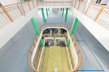 unoccupied floors of shopping center in economic recession