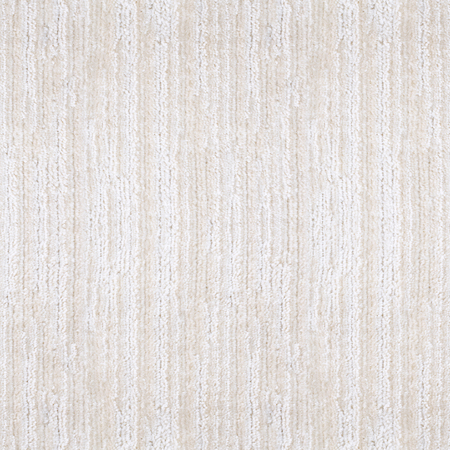 furnishings: woolen white beige carpet texture with relief striped pattern, top view