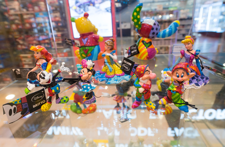 SEOUL - MARCH 29, 2017: Disney toys at a store in the Hyundai IPark shopping mall, the biggest shopping complex in South Korea.