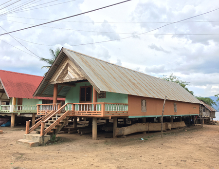 house at Lak Lake in Lien Son, a commune and village in Dak Lak province in Vietnam