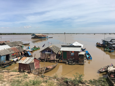 A floating village at Tonle Sap lake, the largest freshwater lake in Southeast Asia and is a biodiversity hotspot, was designated as a UNESCO biosphere reserve Editorial