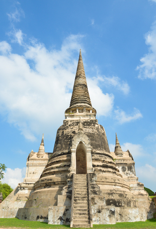 si: Thai style stupa at Wat Phra Si Sanphet, Thailand Stock Photo