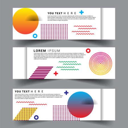 Vector abstract design banner web template. set of design brochure, banner, voucher vector template EPS 10. Ilustración de vector