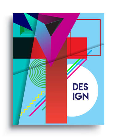 Cover design template with abstract design, arrangement of abstract lines and style graphic geometric elements. Applicable for placards, brochures, posters, covers and banners. Vector Design