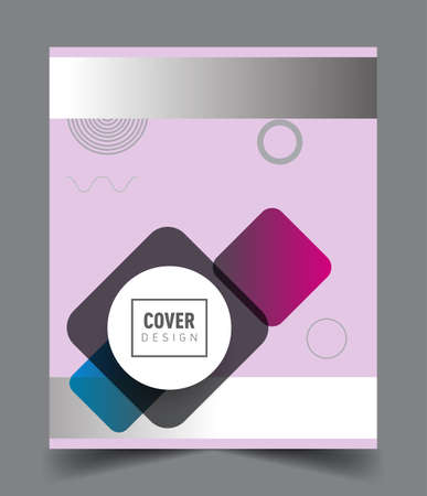 Abstract geometric pattern design and background. Vector templates for modern design, cover, template, decorated, brochure, flyer. Ilustración de vector
