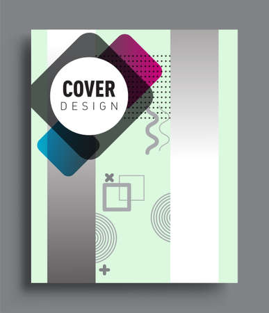 Minimalistic design, creative concept Abstract geometric pattern design and colorful background. Applicable for placards, brochures, posters, covers and banners.