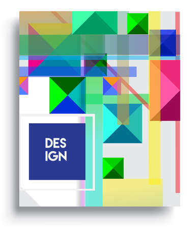 Cover design template with geometric object, arrangement of abstract lines and style graphic geometric elements. Applicable for placards, brochures, posters, covers and banners. Vector Design Vektoros illusztráció