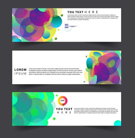Modern abstract covers set. Cool gradient shapes composition, vector covers design. Ilustração Vetorial