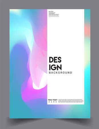 Covers design with liquid color and liquid colorful shapes. arrangement of abstract lines and style graphic geometric elements. Applicable for placards, brochures, posters, covers and banners. Vector Ilustración de vector