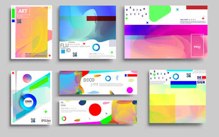 Modern abstract covers sets. Cool gradient shapes composition, vector covers design.