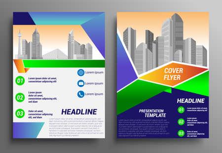 Business brochure flyer design layout template in A4 size, report, poster, flyer background with geometric background for Business Presentation, Portfolio, Banner, Website. Vektoros illusztráció