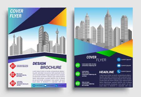 Business brochure flyer design layout template in A4 size, report, poster, flyer background with geometric background for Business Presentation, Portfolio, Banner, Website. Vektorgrafik