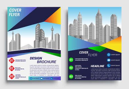 Business brochure flyer design layout template in A4 size, report, poster, flyer background with geometric background for Business Presentation, Portfolio, Banner, Website. Vektorové ilustrace