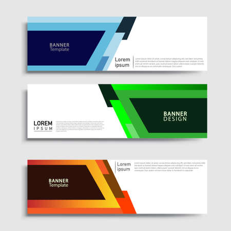 Vector abstract web banner design template sets. Collection of web banner template. Abstract geometric web design banner template.