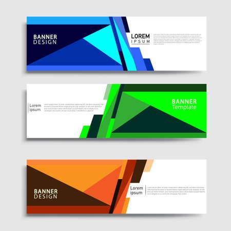 Vector abstract web banner design template sets. Collection of web banner template. Abstract geometric web design banner template. Vektorové ilustrace