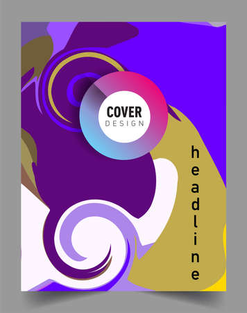 Modern abstract covers. Cool gradient shapes composition, vector covers design. Illustration