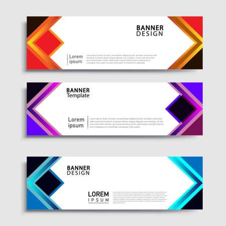 Vector abstract web banner design template sets. Collection of web banner template. Abstract geometric web design banner template. Illustration