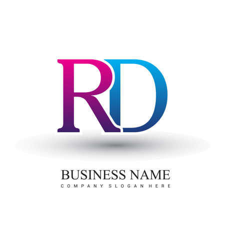initial letter logo RD colored red and blue, Vector logo design template elements for your business or company identity.