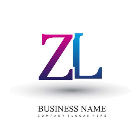 initial letter logo ZL colored red and blue, Vector logo design template elements for your business or company identity.