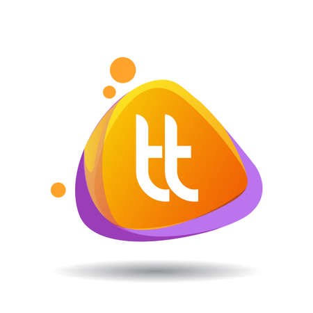 Letter TT logo in triangle splash and colorful background, letter combination logo design for creative industry, web, business and company. Logo