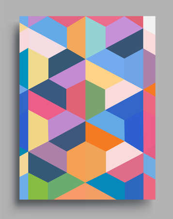Modern geometric abstract background covers. colorful pattern geometric shapes composition, vector illustration.