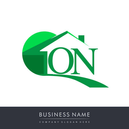 initial logo ON with house icon, business logo and property developer.