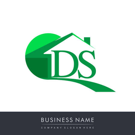 initial logo DS with house icon, business logo and property developer.