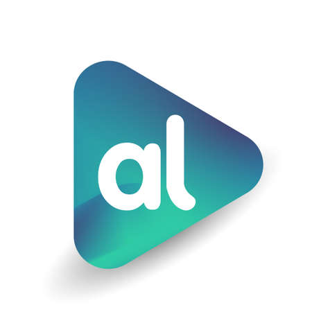 Letter AL logo in triangle shape and colorful background, letter combination logo design for business and company identity. Ilustrace