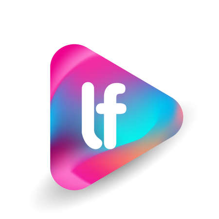 Letter LF logo in triangle shape and colorful background, letter combination logo design for business and company identity. Ilustrace