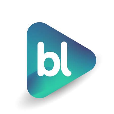 Letter BL in triangle shape and colorful background, letter combination design for business and company identity. Vektoros illusztráció