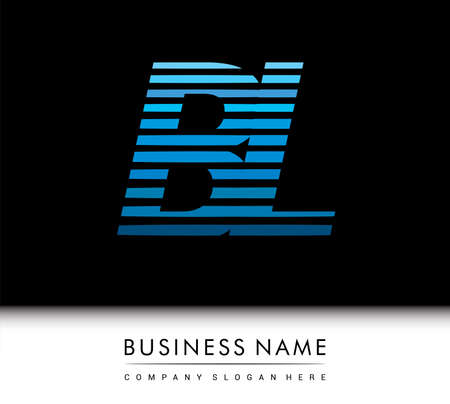 initial letter logo BL colored blue with striped compotition, Vector logo design template elements for your business or company identity. Logó