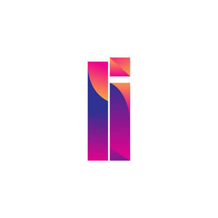 Initial Letter LI Logo Lowercase, magenta and orange, Modern and Simple Logo Design.