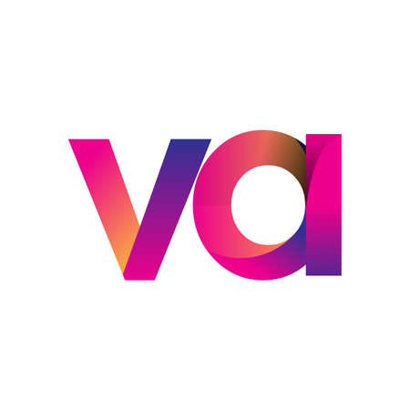Initial Letter VA Logo Lowercase, magenta and orange, Modern and Simple Logo Design. Logo
